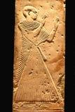 Art hiéroglyphique très vieil, d'isolement sur le noir image stock