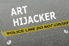Art Hijacker concept Stock Photos