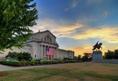 Art Hill i Forest Park, St Louis, Missouri arkivfoton