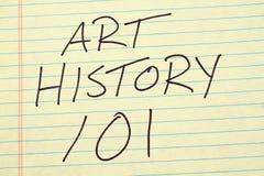 Art History 101 em uma almofada legal amarela Imagens de Stock