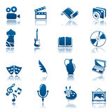 Art & hobby icon set Royalty Free Stock Photos