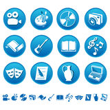 Art & hobby icons Royalty Free Stock Photography