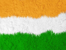 Indian national flag colors background. Art with Holi colours showing Indian national flag and the spirit of the celebration of the festival of colors royalty free stock photos