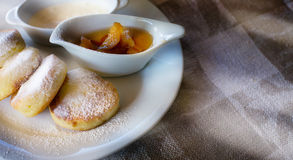 Art homemade breakfast cheesecakes Royalty Free Stock Photos