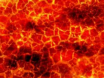 Art hot lava fire abstract pattern background Stock Photography