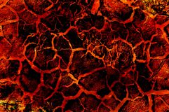 Art hot lava fire abstract pattern Royalty Free Stock Images