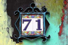 Art house number Royalty Free Stock Photo