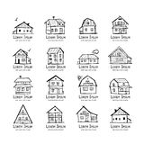 Art houses collection, sketch for your design Royalty Free Stock Images