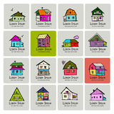 Art houses collection, sketch for your design Stock Image