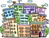 Art houses for your design, vector Stock Illustration