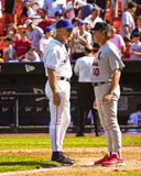 Art Howe and Tony LaRussa (Managers) Stock Photography