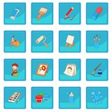 Art icon blue app Royalty Free Stock Photography