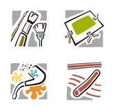 Art Icon Series. A set of four fine arts icons Stock Images