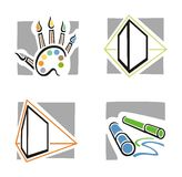 Art Icon Series. A set of four fine arts icons Royalty Free Stock Image