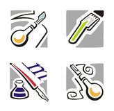 Art Icon Series Royalty Free Stock Images