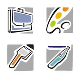 Art Icon Series. A set of four art icons Stock Photo