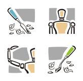 Art Icon Series. A set of four fine arts icons Stock Photos