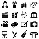Art icon set. In black Royalty Free Stock Photo