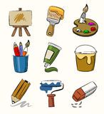 Art icon set Stock Photography