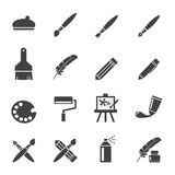Art icon set Stock Images