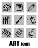 Art icon supplies Royalty Free Stock Image