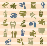 Art icons Royalty Free Stock Images