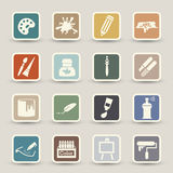 Art icons Royalty Free Stock Photo