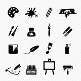 Art icons Stock Photo