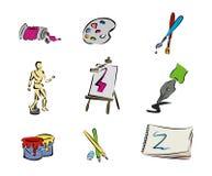 Art Icons Royalty Free Stock Image