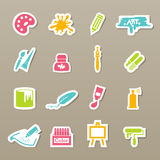 Art icons  Royalty Free Stock Photography