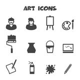 Art icons. Mono vector symbols Stock Photography