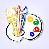 Art Icons-Satz. Eine Vektorillustration Lizenzfreie Stockfotos