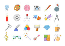 Art  icons set Stock Images