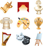 Art icons  set Stock Photo