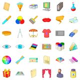 Art icons set, cartoon style Royalty Free Stock Photography