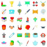 Art icons set, cartoon style Stock Image