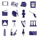 Art icons set eps10. Blue art icons set eps10 Stock Image