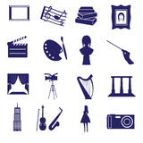 Art icons set eps10. Blue art icons set eps10 vector illustration