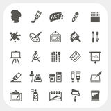 Art icons set Royalty Free Stock Photo