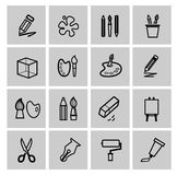 Art Icons set Royalty Free Stock Photos