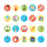 Art icons set. Illustration eps10 Stock Photos