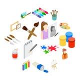 Art icons set, isometric 3d style vector illustration