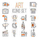 Art icons set vector. Royalty Free Stock Images