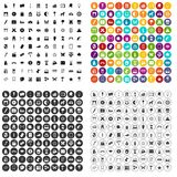 100 art icons set vector variant. 100 art icons set vector in 4 variant for any web design isolated on white Stock Images