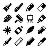 Art Icons Set. Vector Stock Photography
