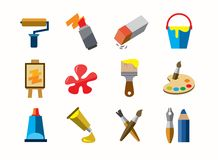 Art icons Stock Images