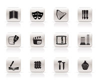 Art Icons - Vector Icon Set Stock Images