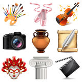 Art icons vector set. Art icons detailed photo realistic vector set Stock Photo