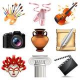 Art icons vector set Stock Photo