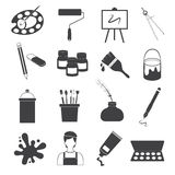 Art Icons Vector Set Royalty Free Stock Photos